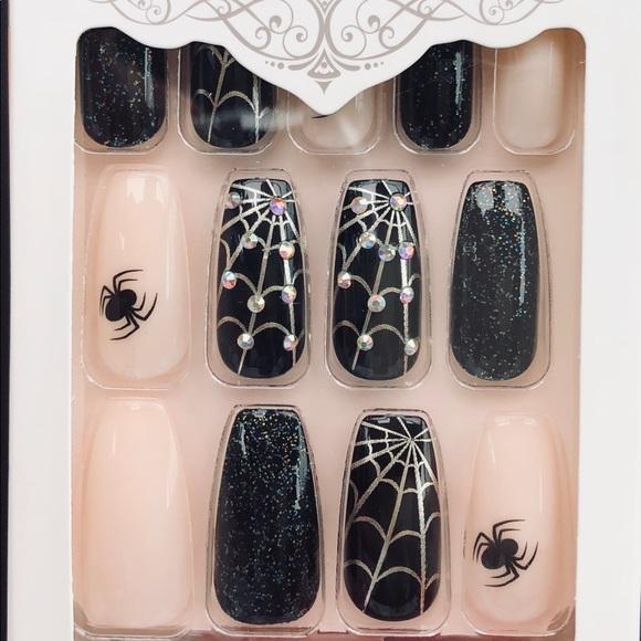 halloween kiss gel nails long length